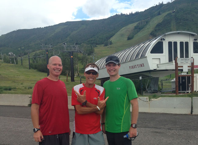 Dean Karnazes, Jeremiah and Bryan Breeze