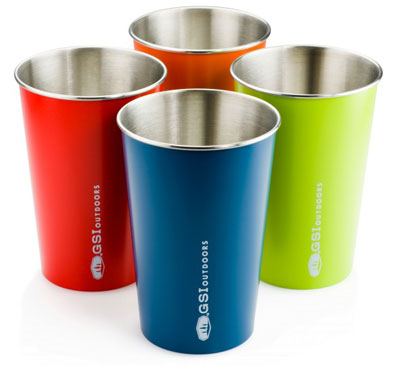 GSI Stainless Pint glasses