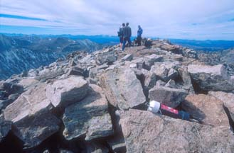 hikers at the summit